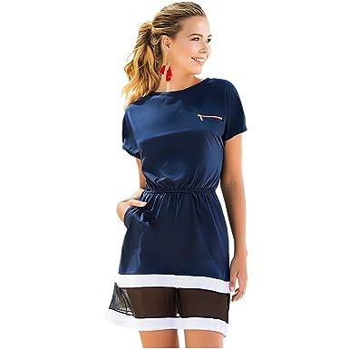 Mapalé 4613 Short Sleeve Dresses for Women Vestidos Manga Corta Playeros Mujer
