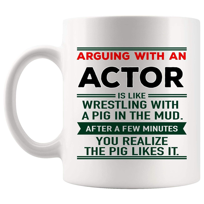 Amazon com: Arguing Actor Mug Best Coffee Cup Mugs Gift Joke