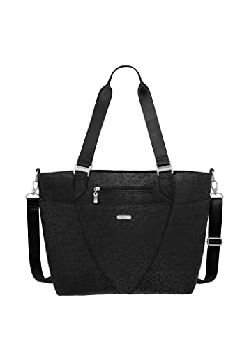 Baggallini Avenue Lightweight Tote Bag - Multi-Pocketed, Water-Resistant Travel Purse with Adjustabl...