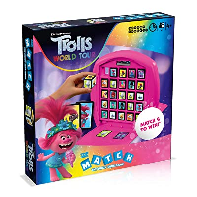 Trolls World Tour Top Trumps Match Board Game: Toys & Games
