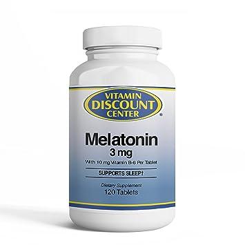 Vitamin Discount Center Melatonin 3 mg, 120 Tablets