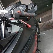 lavorazione a CNC Leve per freno e frizione per Yamaha YZF R1/anni 2009-2014 estensibili e pieghevoli