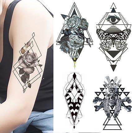 Tatuajes temporales adultos hombre mujer - 8 tatuajes grandes - 21 ...
