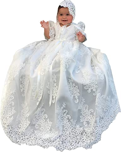 Lovely Lace Girls Christening Gowns Dresses