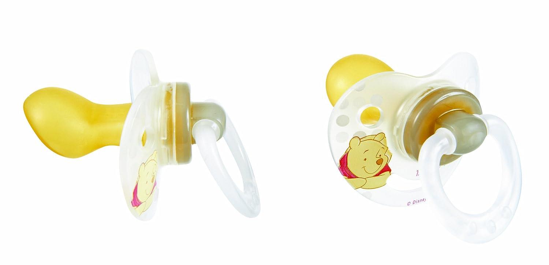 Amazon.com: Tigex 2 chupetes de látex fisiológicos: Baby