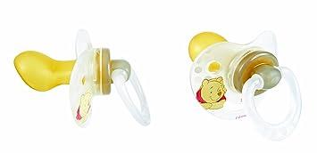 Tigex 80600214 - Pack de 2 chupetes fisiológicos, de 6 meses en adelante, color transparente