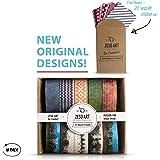 Washi Tape Decorative Set of 10 Rolls Patterned Paper Adhesive Masking Tape for Scrapbooking DIY Crafts Gift Wrap and Paper Art + Bonus 27 Washi Sticker Set Gift