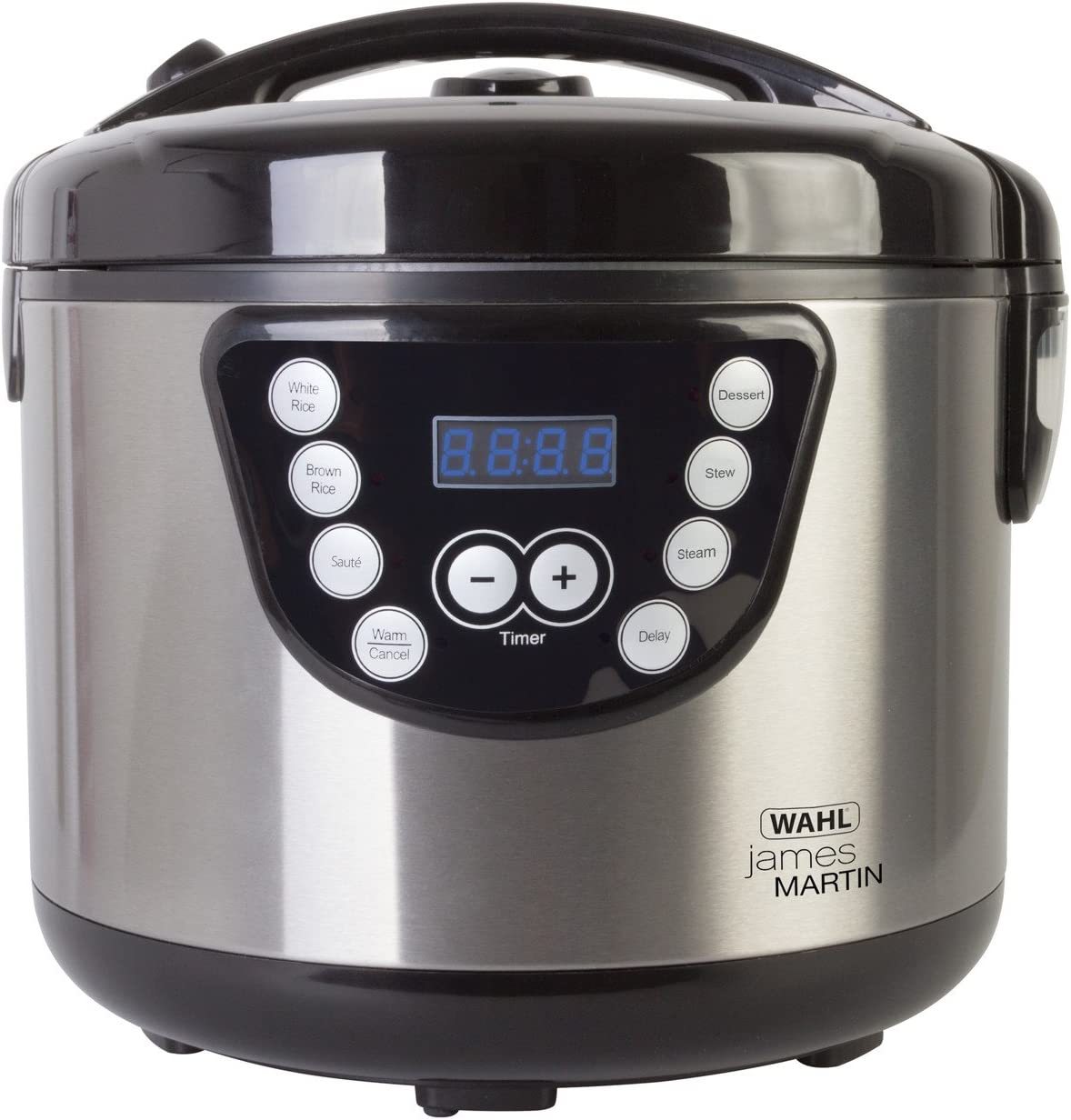 Wahl ZX916 James Martin Multi Cooker, Steaming, Sautéing, Stewing, Cooking, 24 hrs delay timer, Family sized 4L Capacity, Stainless Steel, 2.68 Kgs, Dishwasher Safe parts