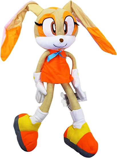 Amazon Com Sonic The Hedgehog S Cream The Rabbit Dangling Arms Legs Stuffed Toy 18in Toys Games