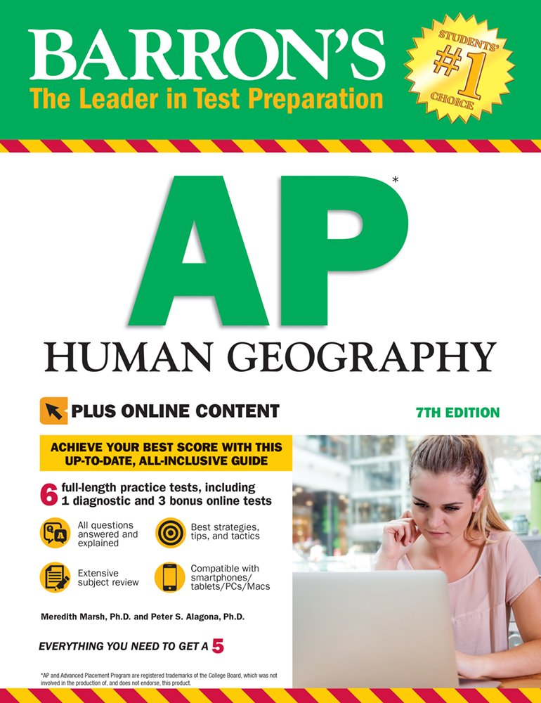 Barron's AP Human Geography, 7th Edition: With Bonus Online Tests