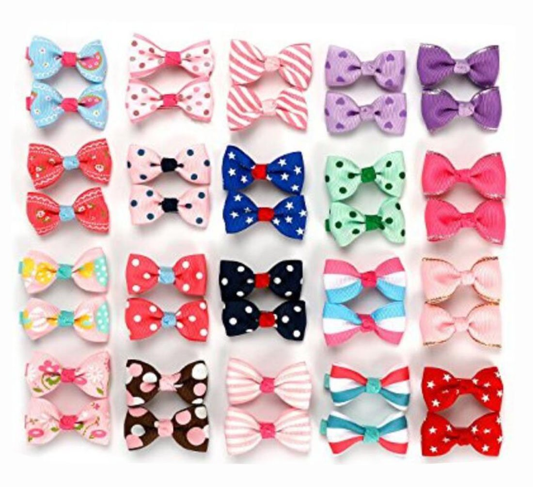 20PCS Colorfull Mixed Color Baby Girls Printed Pattern Barrettes Hair Clips Bow For Girl Babies Toddlers​​​Teens Kids Misc. TUPWEL-1 B07DL4FTHX
