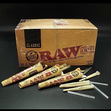 Raw King Size Pre enrollado conos clásica Brut Pre Rolled Rolling ...