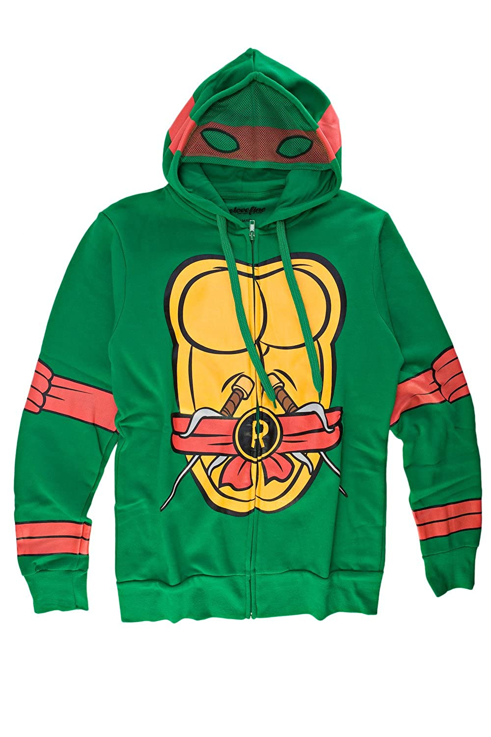Teenage Mutant Ninja Turtles I Am Raphael Mens Zip-Up Costume Hoodie Toy Zany