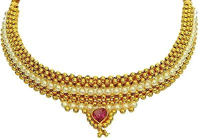 High quality !! Bollywood ethic style Jewellery Kolhapuri Saaj Necklace Set