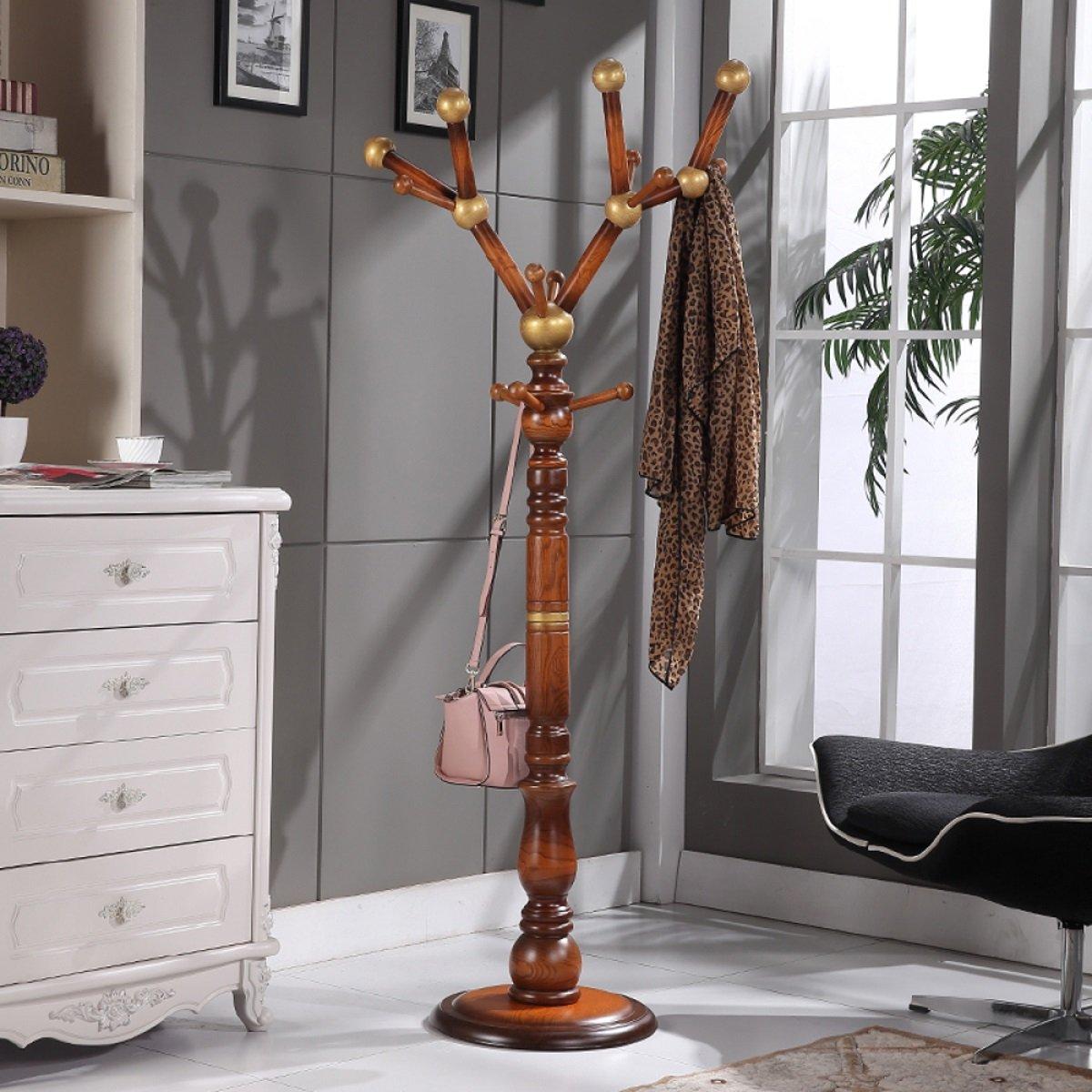 LF Coat rack Perchero de Madera Maciza Home FloorType Extraíble Ensamble Economy Tree Branch Hanger (180 * 40cm) (Color : Oro)