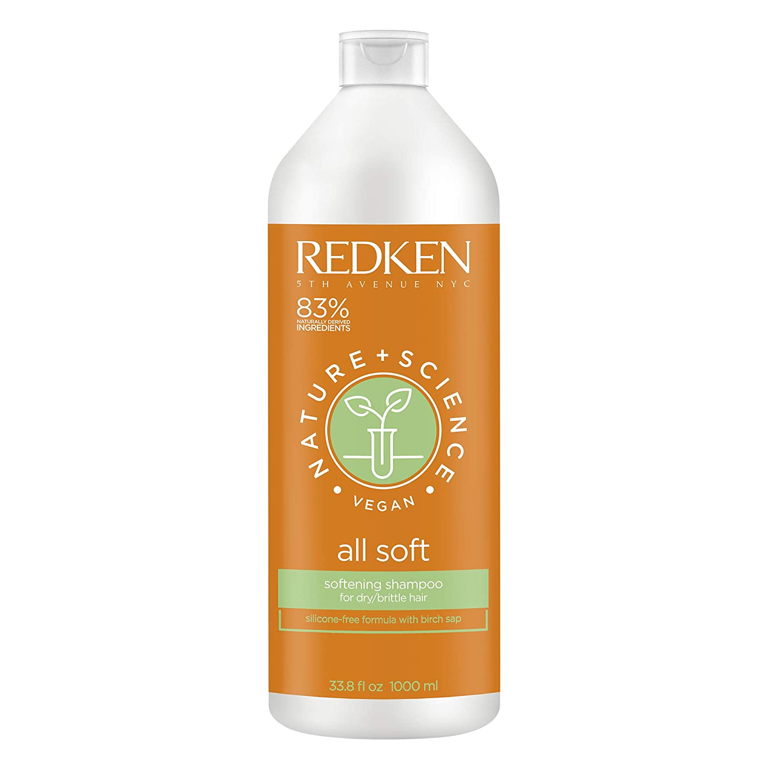 Redken Nature + Science All Soft Shampoo | For Dry Hair | Adds Moisture For Healthy Looking Hair | With Birch Sap | Vegan