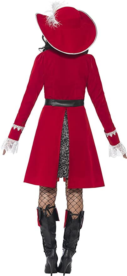 Amazon.com: Smiffys Adults Womens High Seas Scarlet Red Pirate Captain Costume: Clothing