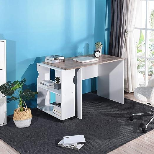 FurnitureR - Mesa de Escritorio para Ordenador con estantes de ...