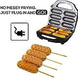 J-JATI Waffle Corn Dog Maker Hot Dog Presser Maker Waffel Stick Maker Hot Dog Maker Corn Dog Machine hot Dog and Corn Dog Maker Mix Any Type of Batch SW230B-B6…