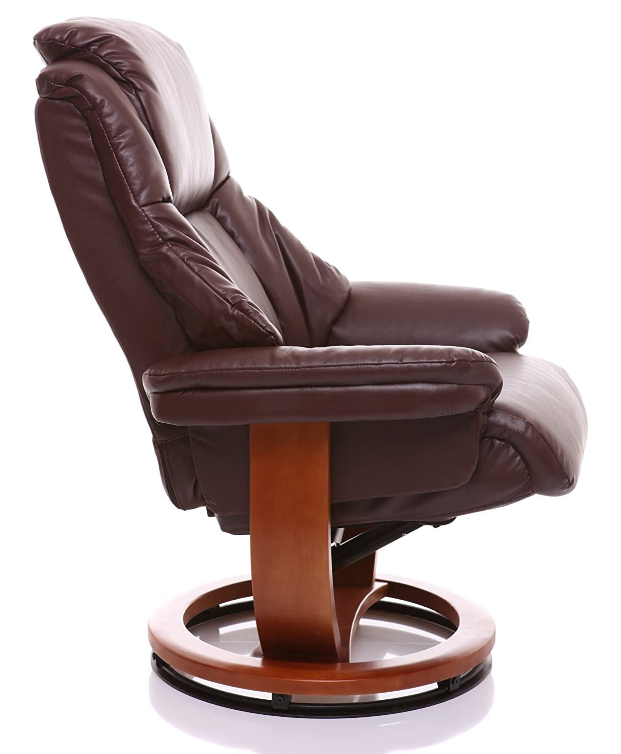 The Emperor   Bonded Leather Recliner Swivel Chair U0026 Matching Footstool In  Nut Brown: Amazon.co.uk: Kitchen U0026 Home