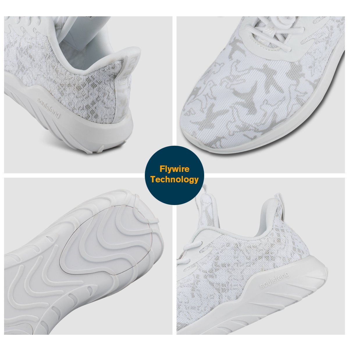 Running Shoes Men Women Wide Sneakers for Boys Girls Youth, Lightweight Shoes B075ZQHQ4C Women 8 B(M)US=EUR39=25CM|White