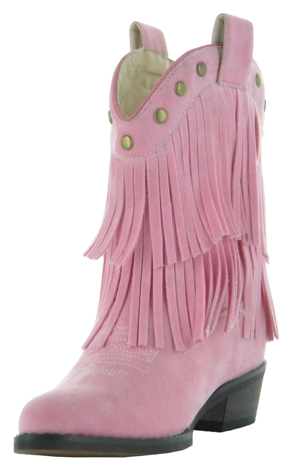 Little Kids Fun Fringe Brown Cowgirl Boots by Country Love Boots (11.5 Little Kid, Pink) by Country Love Boots (Image #5)
