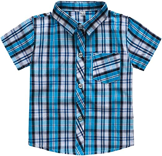 ZHMEI Camiseta Negra | Toddler Baby Kids Boys Stripe Plaid Pocket T-Shirt Tops Ropa Casual 18 Meses - 7 años: Amazon.es: Ropa y accesorios