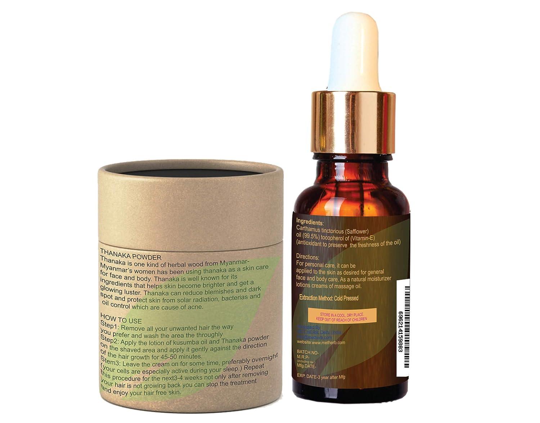 Amazon Com Pure Natural Thanaka Powder 15g Kusumba Oil 15ml