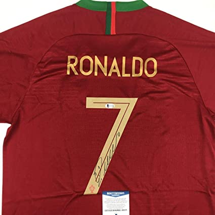 a650555a8 Signed Cristiano Ronaldo Jersey - Red World Cup Beckett COA - Beckett  Authentication - Autographed Soccer Jerseys at Amazon s Sports Collectibles  Store
