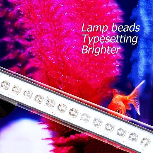 JOYTUTUS iluminación Acuario, LED Lámpara Acuario Luces del Acuario, Sumergible Submarino Agua Luces a LED de Cristal, Blanco Luminosa Eccelente de Acuario ...