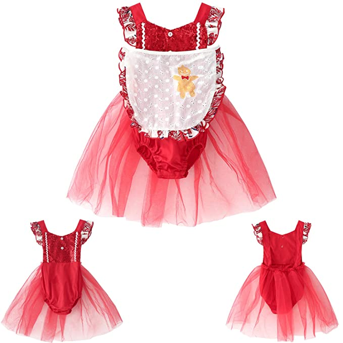 4a4f42d7e1e8 Amazon.com  Kimocat Kids Baby Flower Girls Party Sequins Dress ...