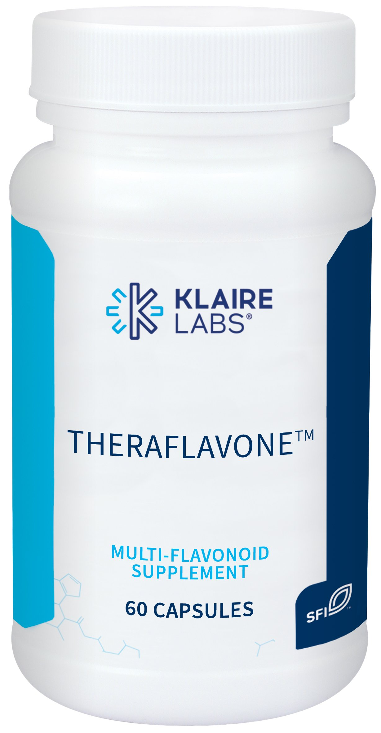 Klaire Labs (ProThera) Theraflavone - Flavonoids with Pycnogenol, Milk Thistle & Bilberry (60 Capsules)