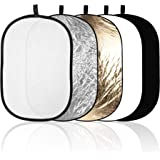 Emart 60cm x 90cm/24'' x 36'' Oval 5-in-1 Portable Photography Studio Multi Collapsible Disc Lighting Reflector with…