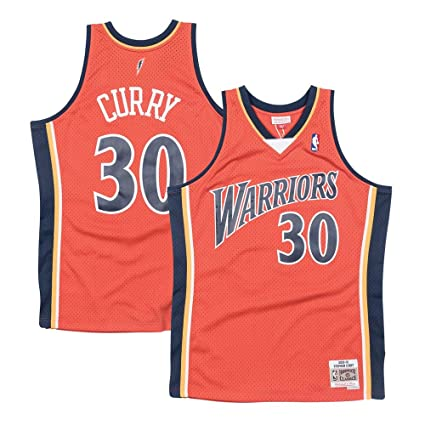 Mitchell   Ness Stephen Curry Golden State Warriors NBA Throwback Swingman  Jersey-Alternate (Large 6ab81f036