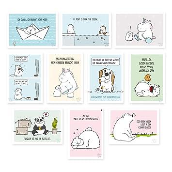 10 Er Set Lustige Postkarten Lustige Geburstagskarten Spruche