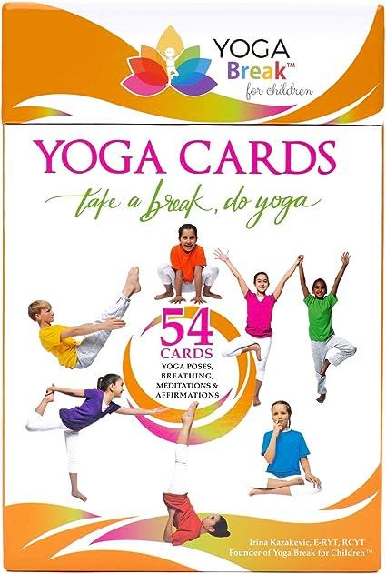 Amazon.com: Tarjetas de yoga para niños, 54 tarjetas ...