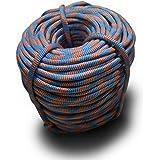 DESERT & FOX Outdoor Emergency Rope,Camping Ropes Climbing Ropes Diameter 9mm 10m/20m/30m/50m Wear Resistant High Strength Hi