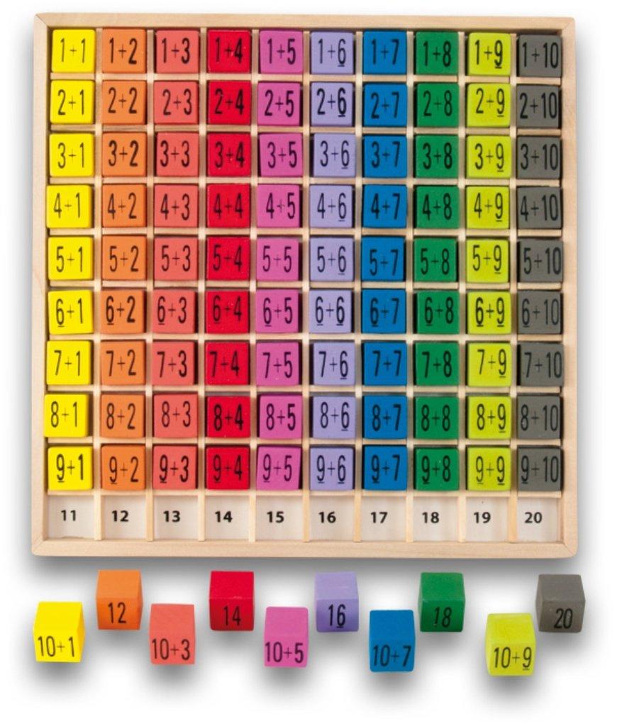 Ulysse Addition 3864 1 100 Abaco, Legno, 20X20 Cm,Multicolore