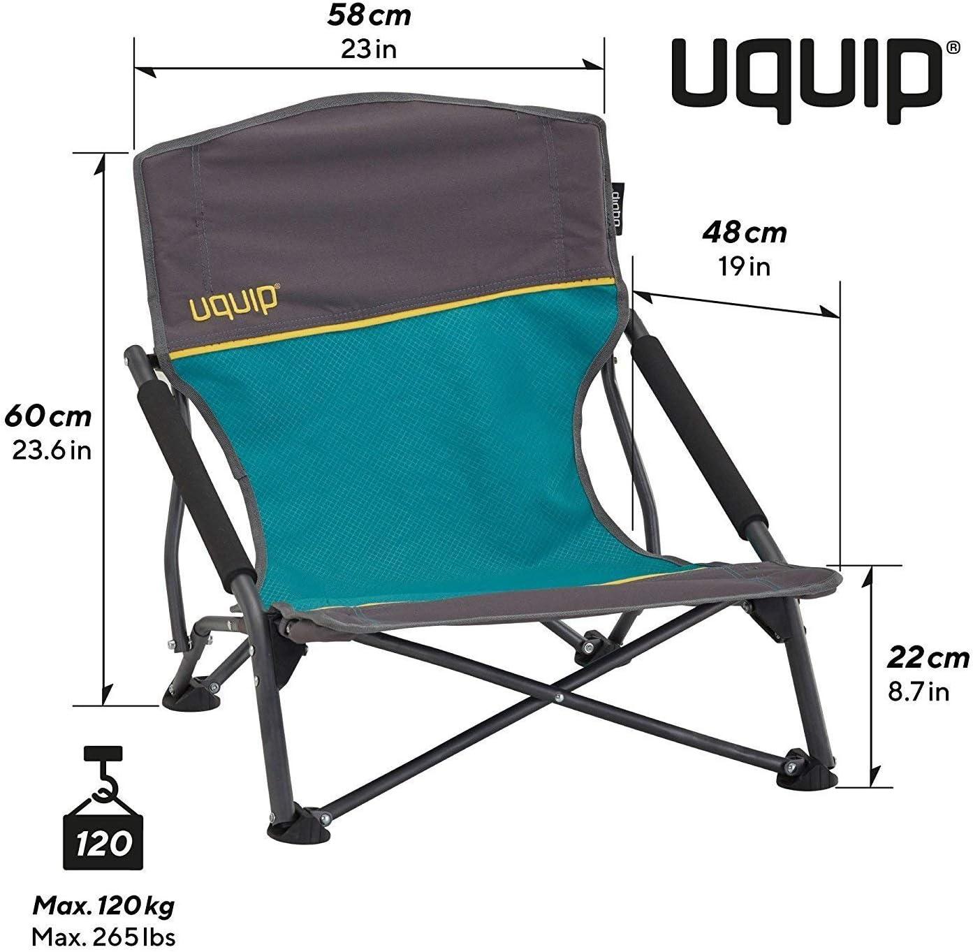 Uquip-Plage Chaise SANDY XL Confortable Chaise pliante avec capacité de charge jusqu/'à 120 kg bien