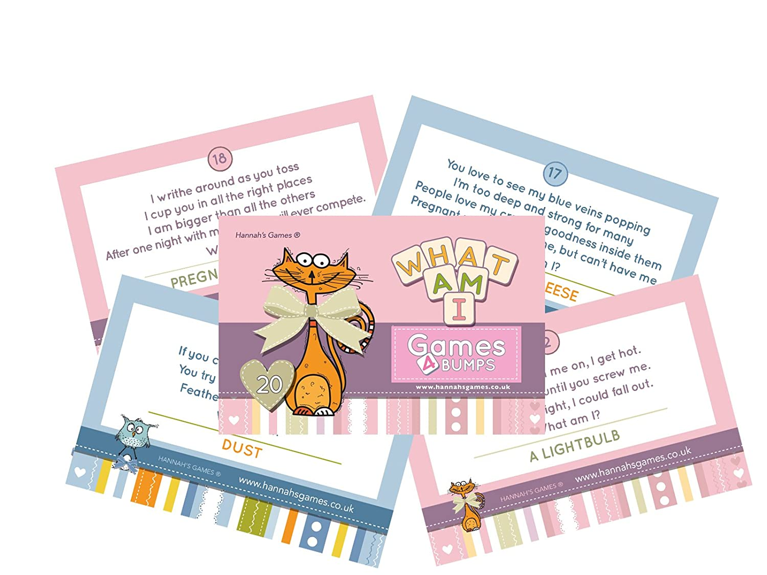 Hannah\'s Games WHAT AM I? GAME Baby Shower Party Game~ 20 pack ...