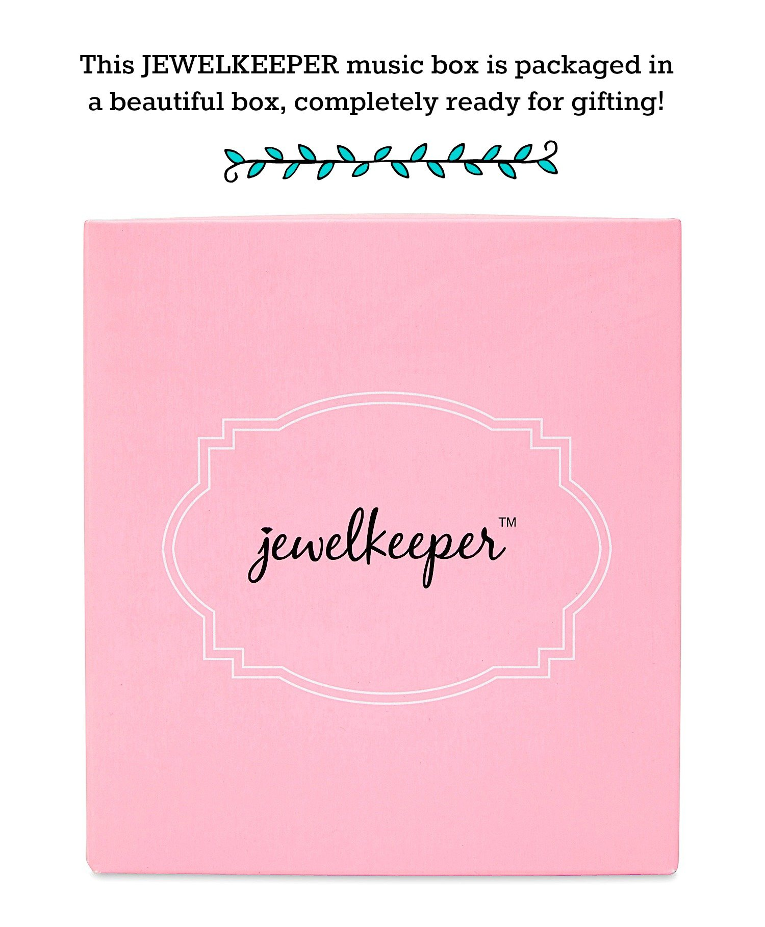 JewelKeeper Musical Jewelry Box, Unicorn Rainbow Design with Pullout Drawer, The Unicorn Tune by JewelKeeper (Image #6)