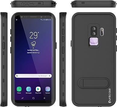 Galaxy S9 Plus Coque étanche, Punkcase [Kickstud Série] [Slim Fit] [certifié IP68] [résistant aux Chocs] [Anti-Neige] Armour Coque W/Built-in Béquille ...