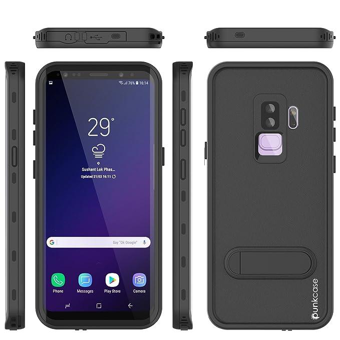buy online e3518 ee332 Galaxy S9 Plus Waterproof Case, Punkcase [Kickstud Series] [Slim Fit] [IP68  Certified] [Shockproof] [Dirtproof] [Snowproof] Armor Cover for Samsung ...