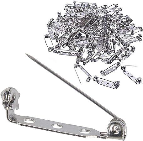 30pcs 26mm*5mm Safety pins Brooch safety pins Bar Pins Silver safety pin Brooch Pin Backs Setting Blank