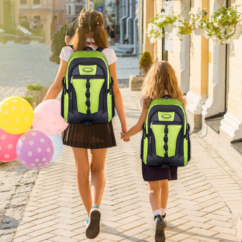 Vert Fanspack Cartable Garcon Sac Primaire Garcon Sac a Dos College Garcon Sac Ecole Garcon en Nylon