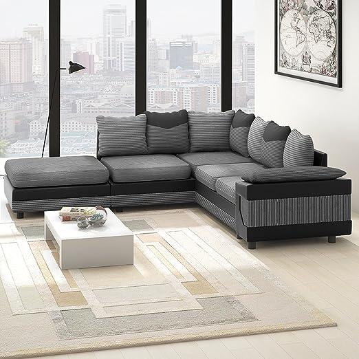 Newzeal - Sofá esquinero de 3 plazas y 2 plazas, sofá ...