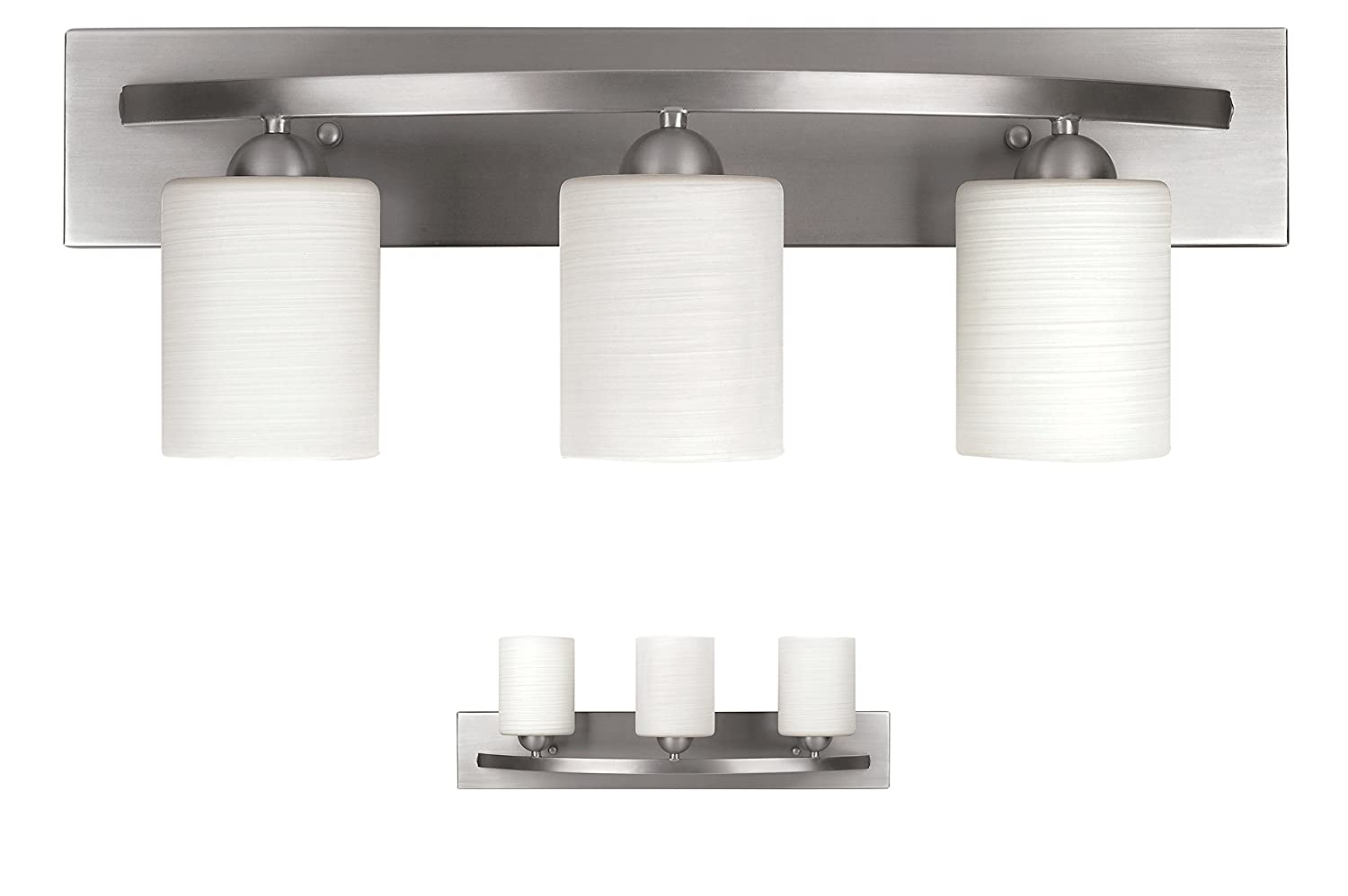 Superbe WholesalePlumbing IVL370A03BPT 3 Bulb Vanity Light Fixture Bath Interior  Lighting, Brushed Nickel     Amazon.com