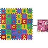 Meiqils Tappeto Puzzle per Bambini | in Soffice Schiuma EVA | Tappetino Gioco per la Cameretta | con Lettere dell´Alfabeto da Ordinare