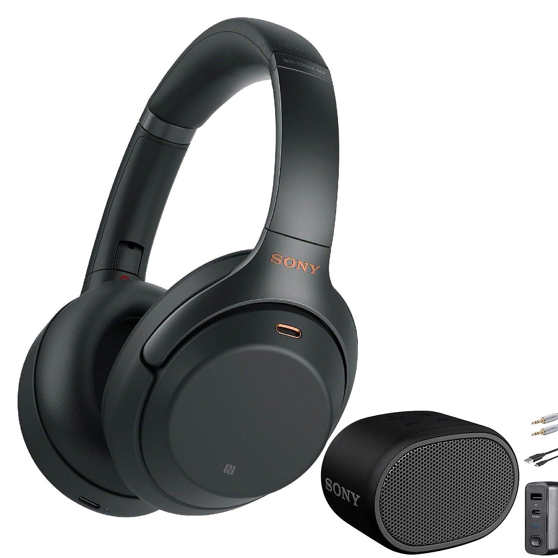 Sony WH1000XM3 Wireless Noise-Canceling Headphones (Black) with Sony XB01 Extra Bass Portable Bluetooth Speaker (Black) Bundle