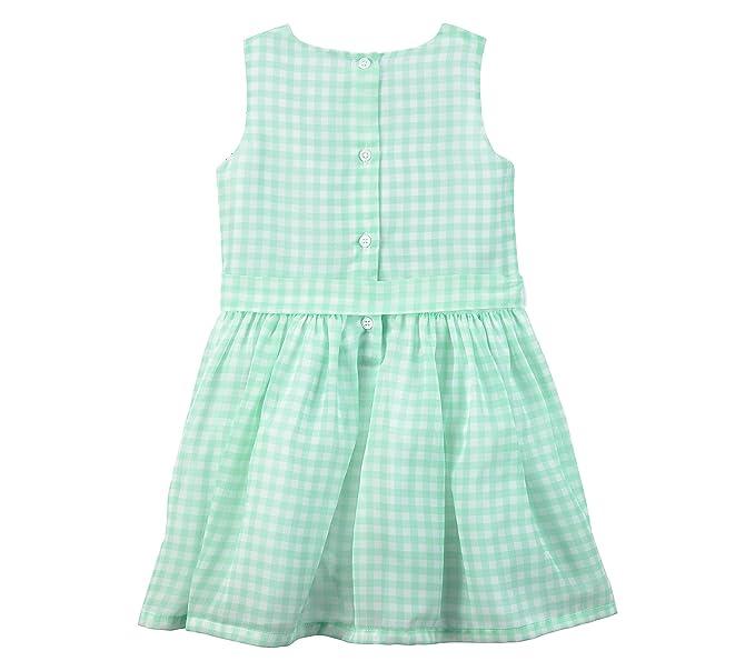 0fc900dc457da Amazon.com: Carter's Baby Girls' Bow Sateen Dress: Clothing